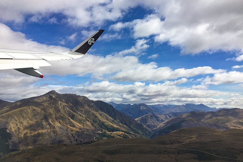 The scenic approach to Queenstown Airport © Black Sheep Touring Co.