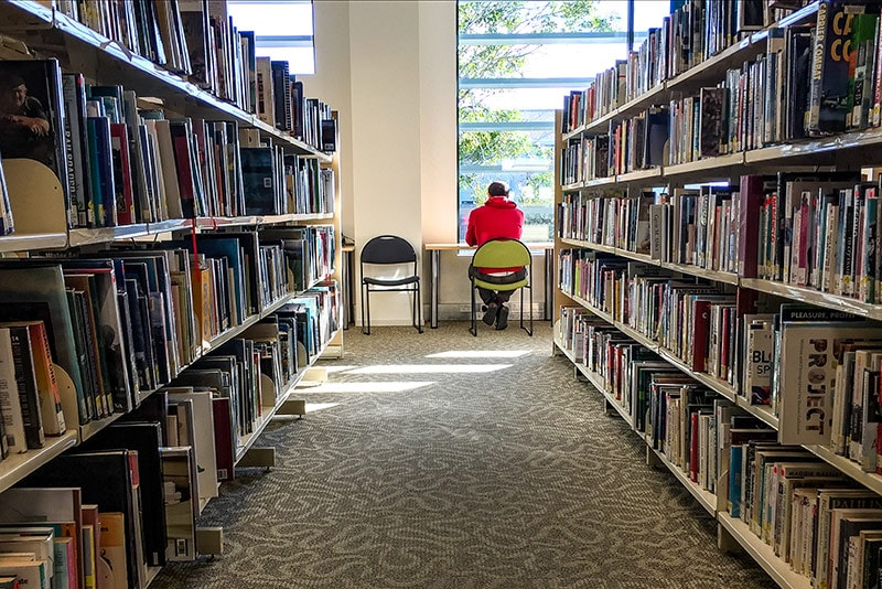 Public libraries provide a quiet place to browse the internet, as well as books. © Black Sheep Touring Co.