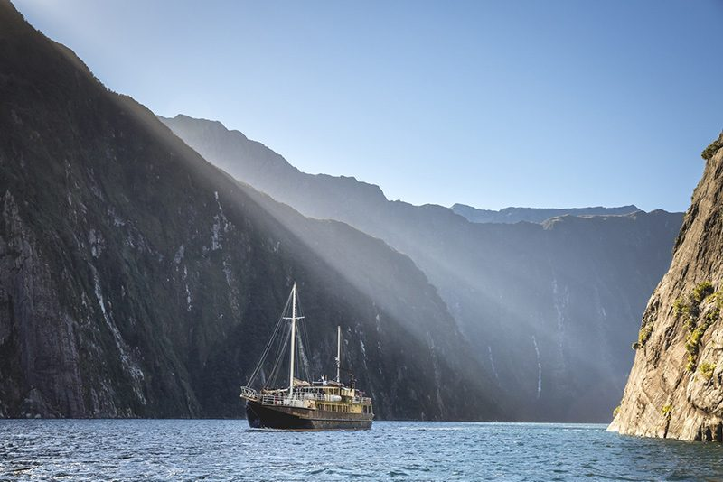 Enjoy the tranquility of Milford Sound before the high season arrives. © Real Journeys