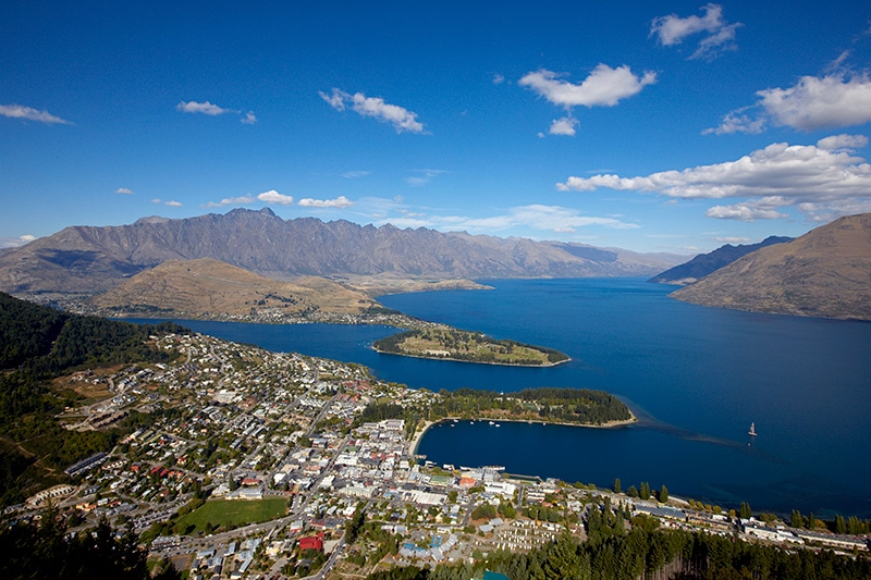 A gondola ride up Bob's Peak provides views of Queenstown, Lake Wakatipu and The Remarkables mountain range at the end of a family private tour