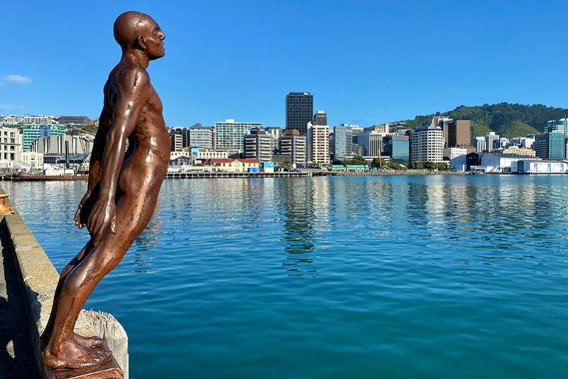 Solace in the Wind sculpture on Wellington waterfront